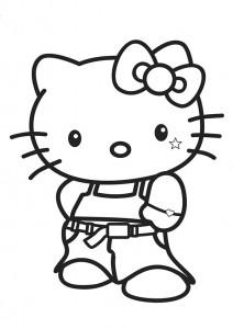 ausmalbilder beste hello kitty-1