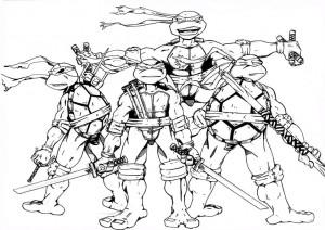 ausmalbilder ninja turtles-1