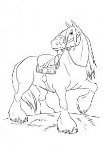 ausmalbilder beste pferde -1