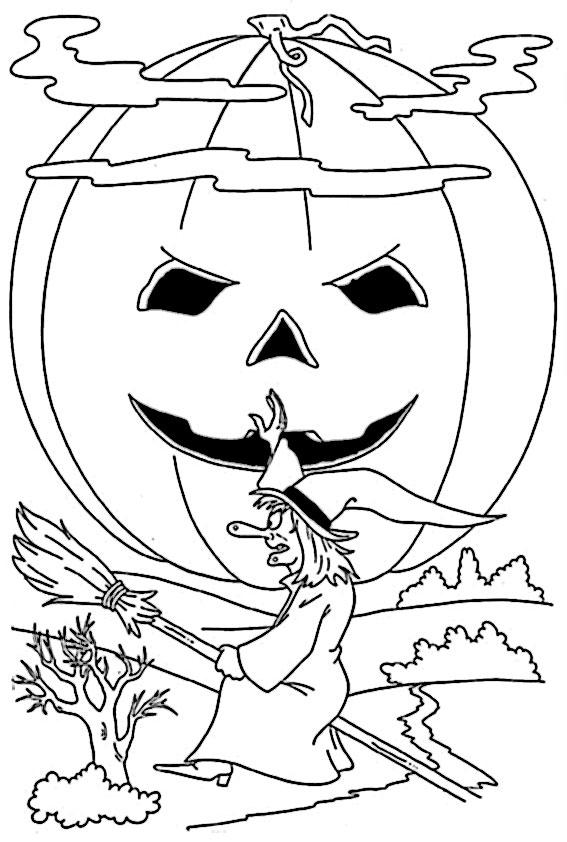 ausmalbilder halloween -4