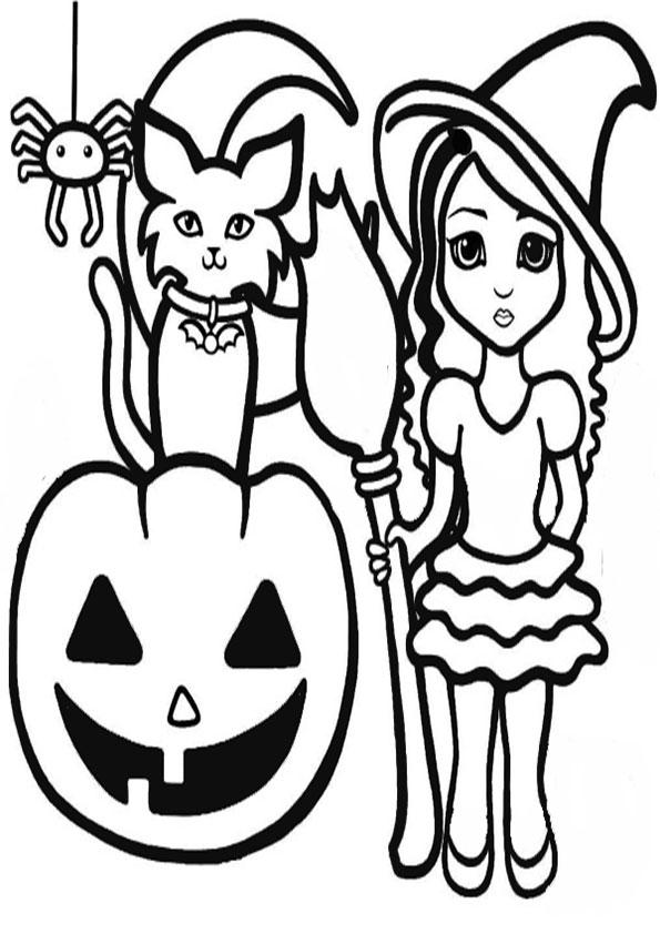 ausmalbilder   halloween -7