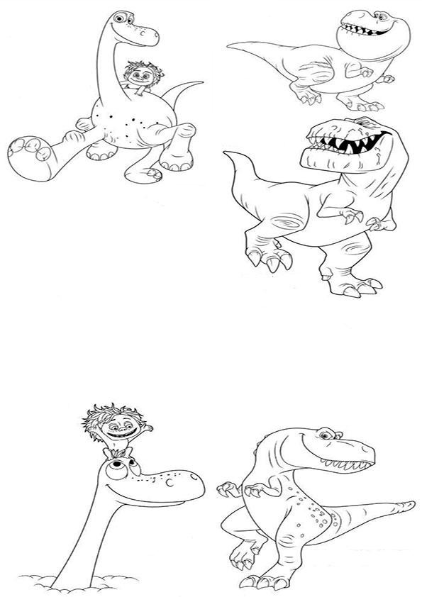 ausmalbilder der gute dinosaurier-5