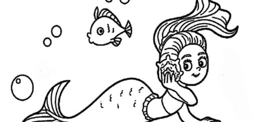 ausmalbilder beste meerjungfrauen-5