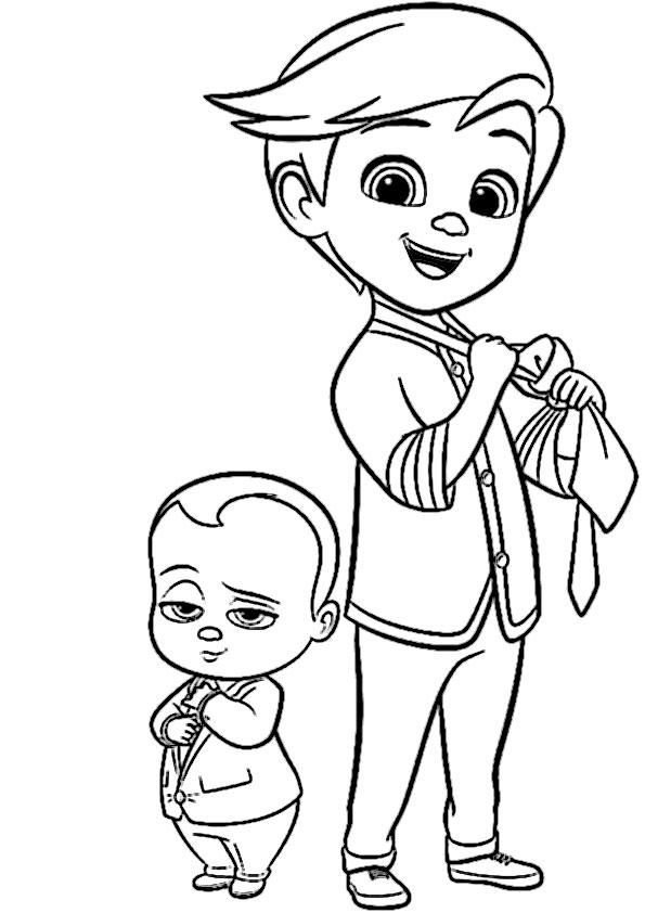ausmalbilder beste the boss baby-1