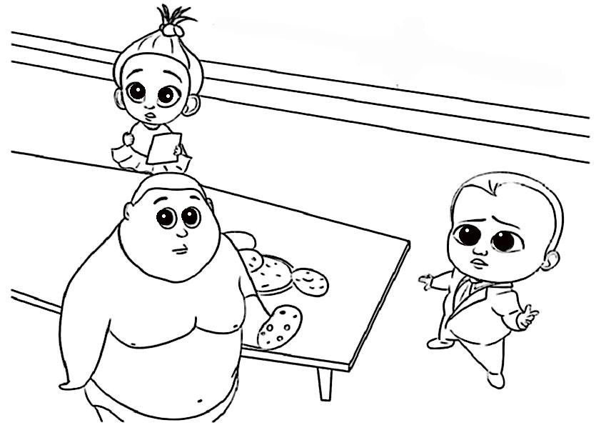 ausmalbilder beste the boss baby-9