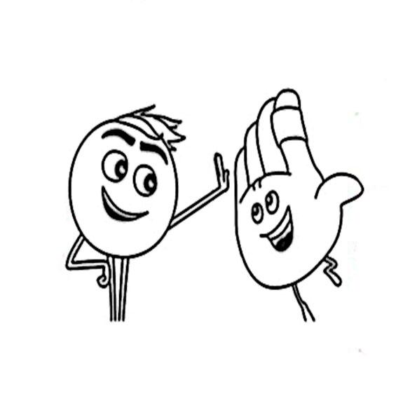 ausmalbilder beste emoji der film -4