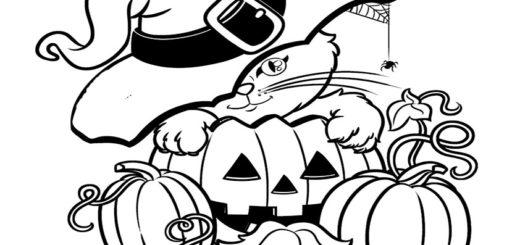 beste ausmalbilder halloween -36