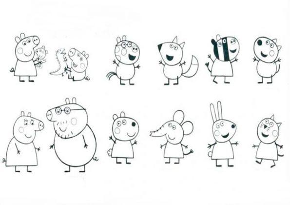 ausmalbilder beste peppa pig-1