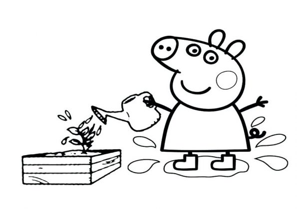 ausmalbilder beste peppa pig -8