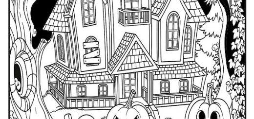 ausmalbilder beste halloween -44